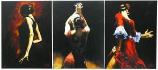 3pc Fabian Perez ''Flamenco Dancer'' Giclees