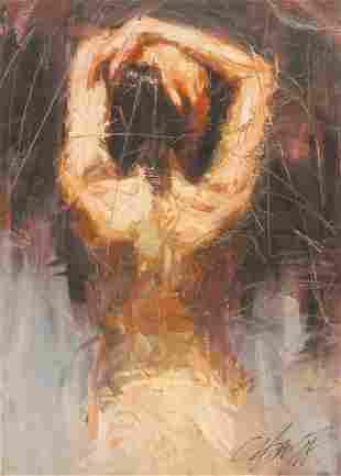 Henry Asencio ''Repose'' 2001 Giclee