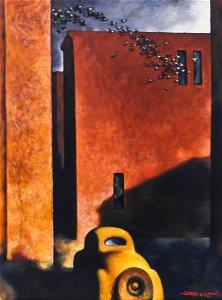 Z.Z. Wei ''Afternoon Flight'' Oil on Canvas