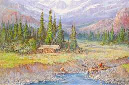 Fred Oldfield ''Mining Camp'' 2009 Large Oil