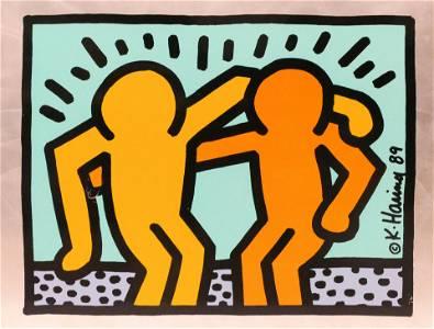 Keith Haring ''Best Buddies Portfolio'' 1989