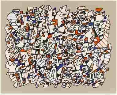 Jean Dubuffet ''Ontogenese'' 1975 Screenprint