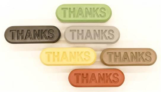 Allan McCollum ''Thanks'' (Visible Markers) 1997