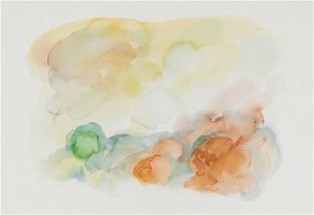 William Tillyer ''Landscape'' Watercolor on Paper
