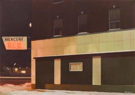 Robert Gniewek ''Mercury Bar'' 1977 Oil on Canvas