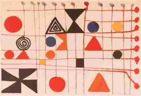 Alexander Calder ''Quilt'' 1966 Lithograph in Colors