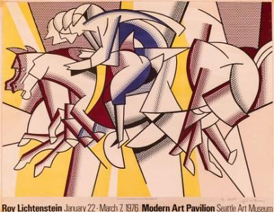 Roy Lichtenstein ''The Red Horseman'' Signed Poster