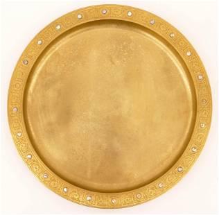 Tiffany Studios 1728 Dore Gold Charger