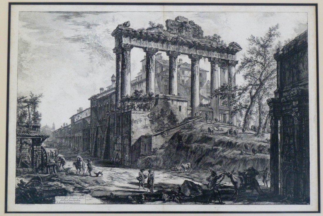 6: Francesco Piranesi (1758-1810 Italy) ''Veduta del Te