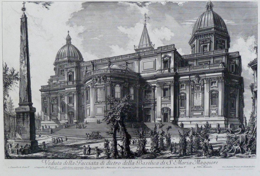 7: Giovanni Piranesi (1720-1778 Italy) ''Veduta della F