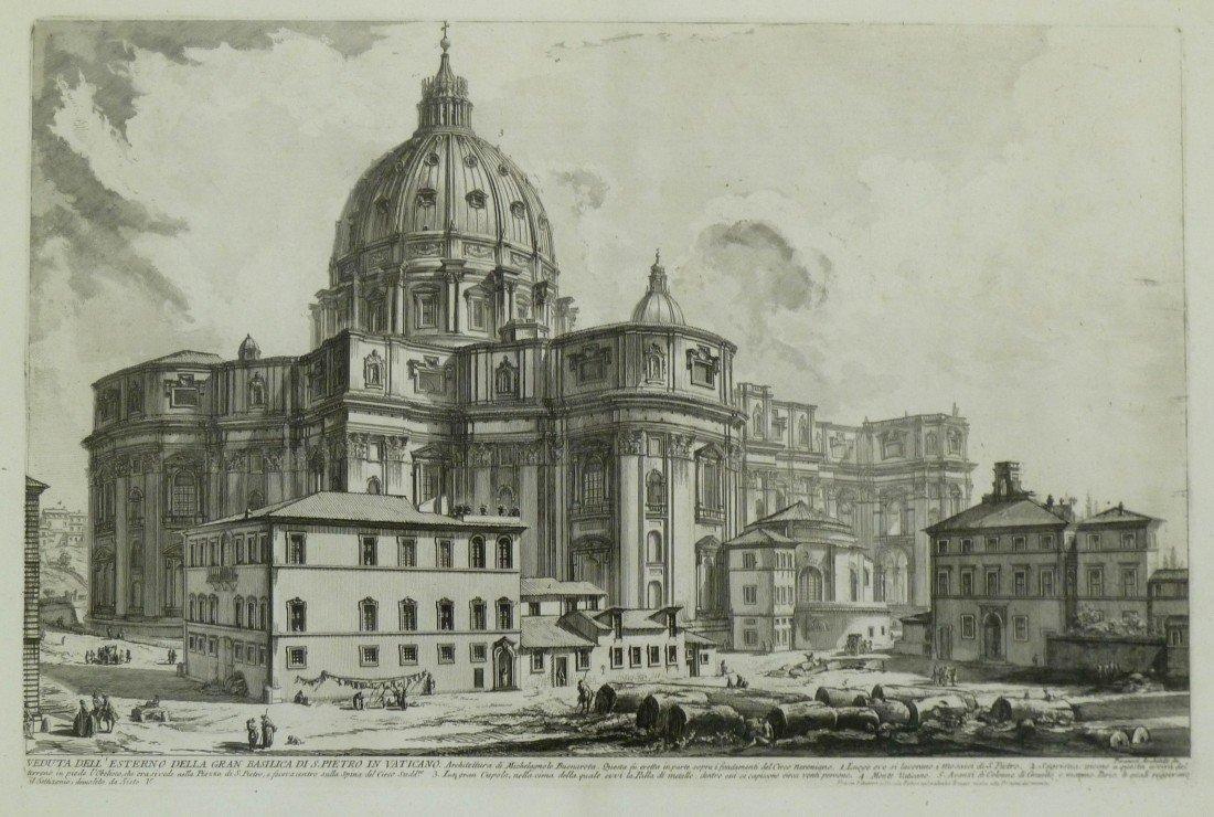 9: Giovanni Piranesi (1720-1778 Italy) ''Veduta dell Es