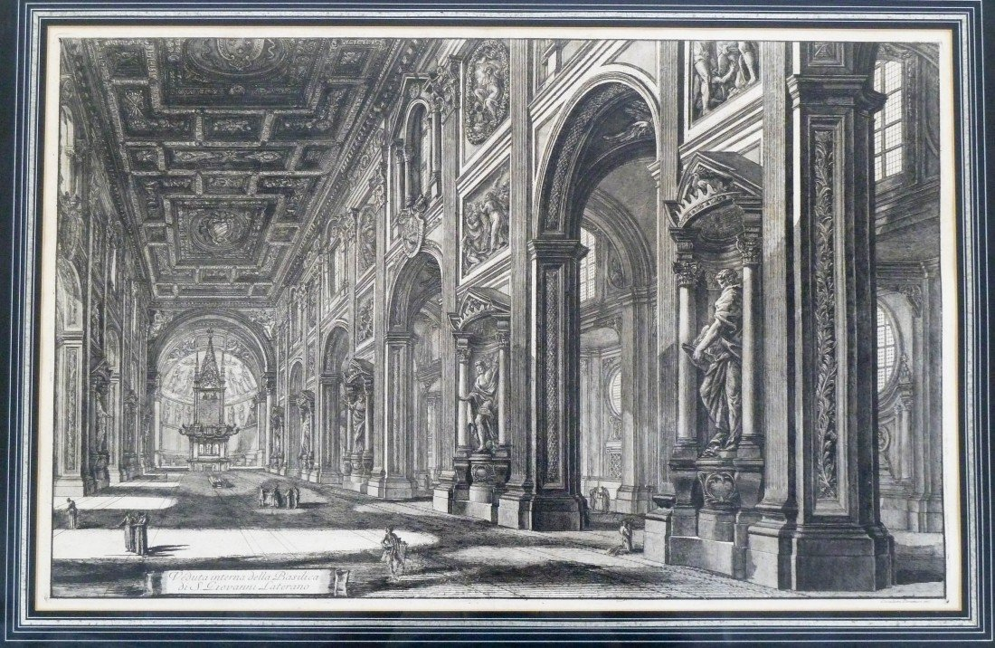 10: Piranesi (18th Cent. Italian) ''Veduta Interna dell