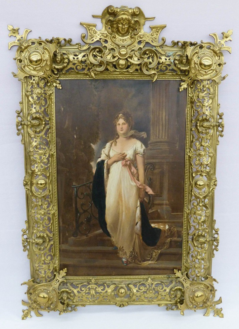 14: Victorian Hand Touched Neoclassical Beauty Print on