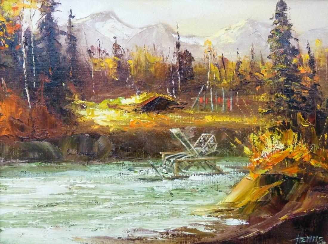 19: Ellen Henne Goodale (1915-1991 AK) ''Beaver Trap in