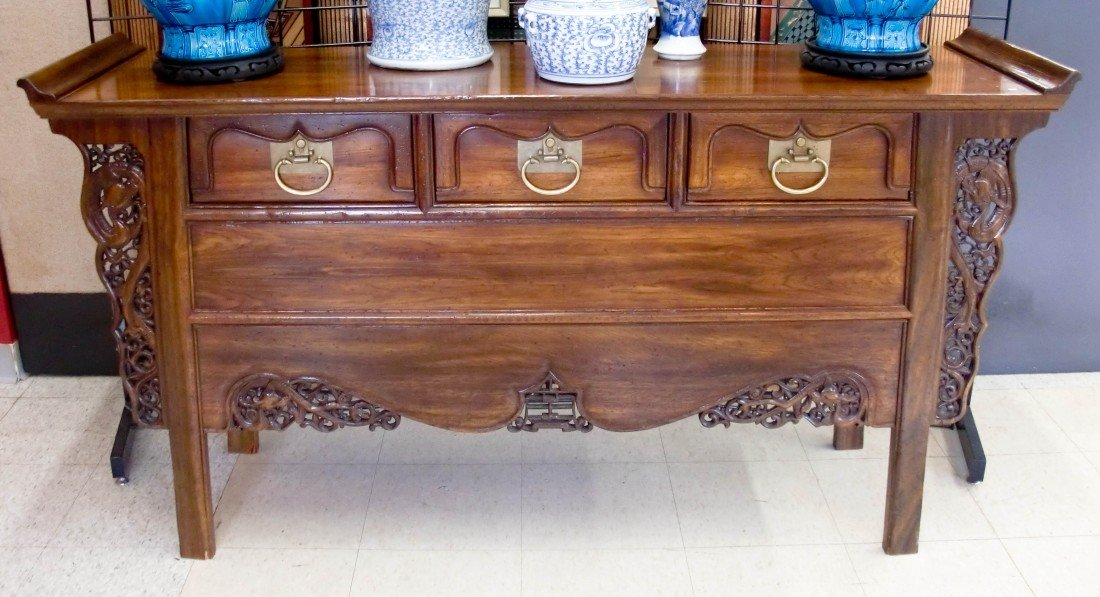 4A: John Widdicomb Designer Chinese Carved Altar Table