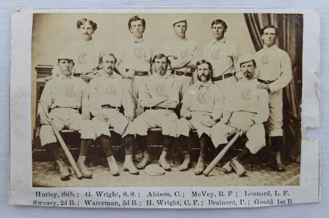 114: Rare 1869 Cincinnati Red Stockings Baseball Card