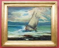 169: Harvey B. Goodale (1900-1980 AK) Untitled Sailboat