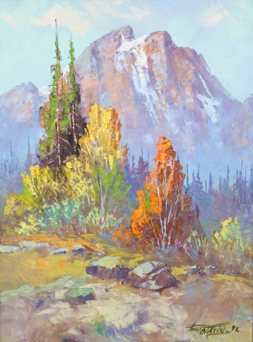 4: Fred Oldfield (b.1918 WA) Untitled Autumn Landscape