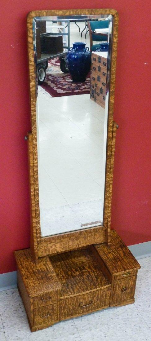 11: Meiji Japanese Dressing Mirror Stand 50''x20.25''
