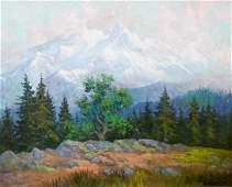 15: Fred Oldfield (b.1918 WA) Untitled Mountain Landsca