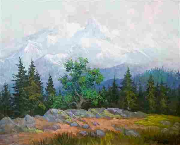 Fred Oldfield (b.1918 WA) Untitled Mountain Landsca