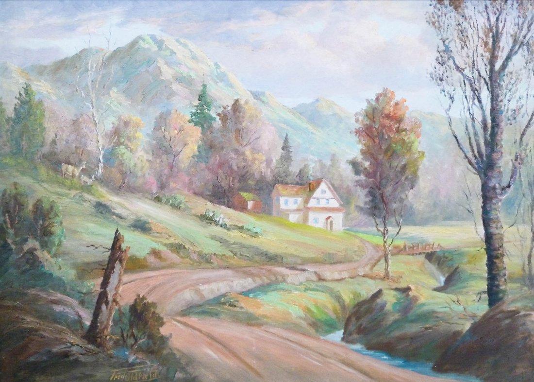 16: Fred Oldfield (b.1918 WA) Untitled Homestead Scene