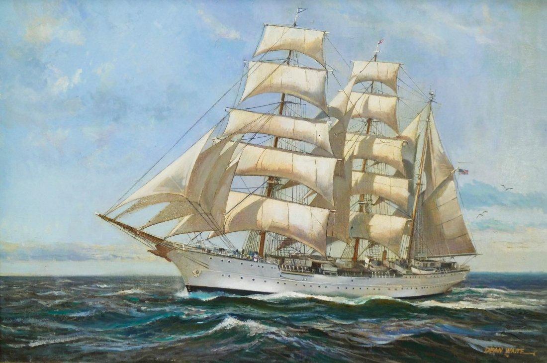 20: Dean Waite (b.1923 MA) ''Yacht on Calm Sea'' 1976 O