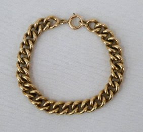 14k Men's Link Bracelet 7'' Long - Weighing 42 Gram