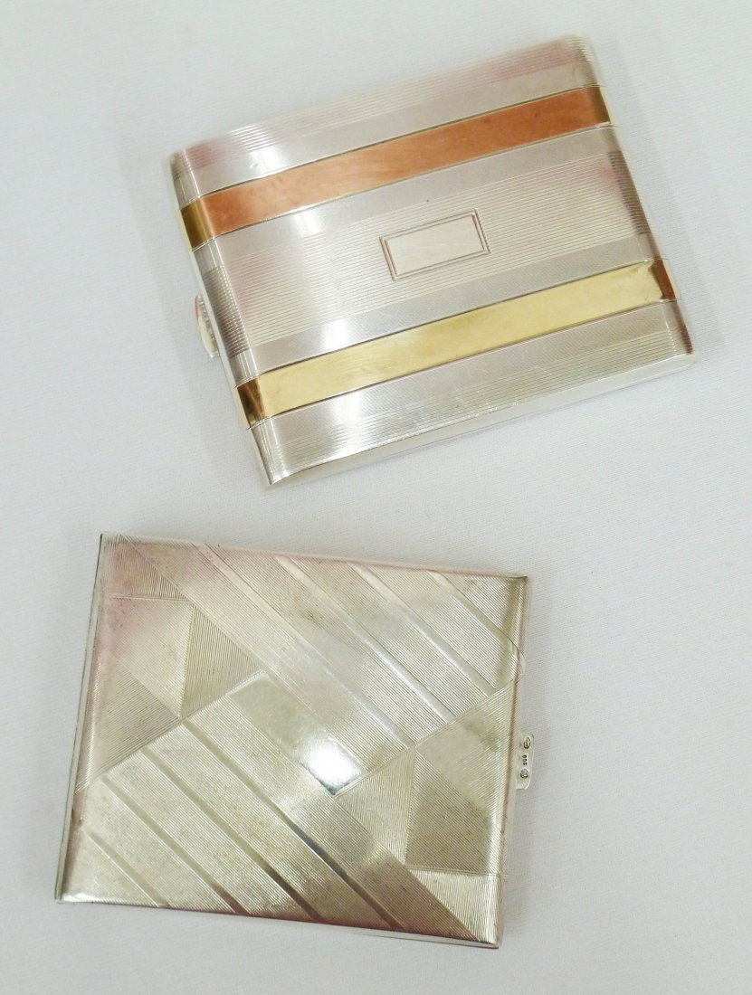 101: Two Art Deco Silver Cigarette Cases Including an 8