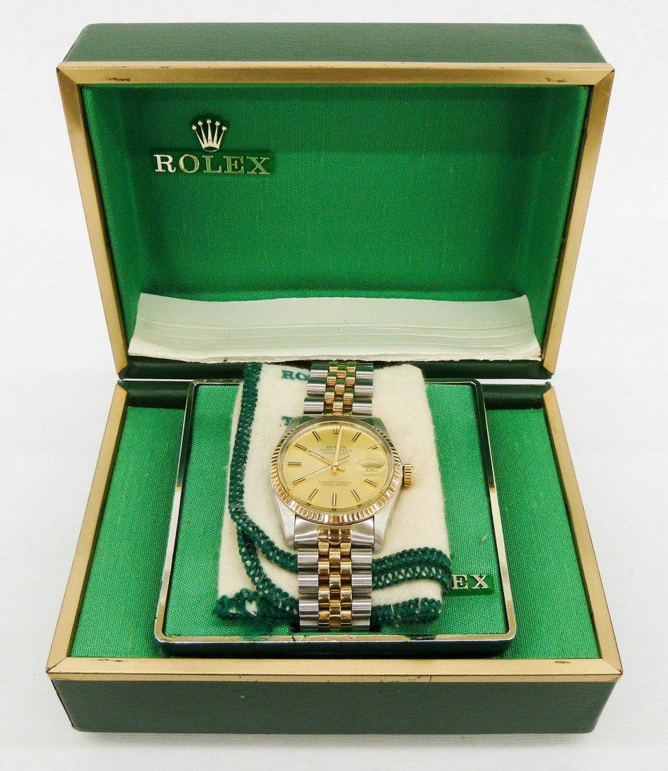 119: Men's Rolex Oyster Perpetual Datejust Wristwatch w