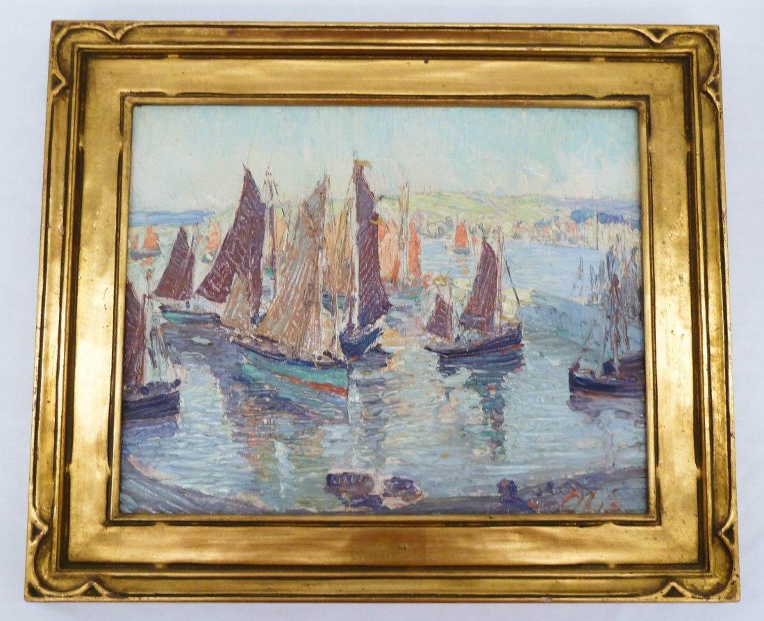 4: Marcel Olis (20th Cent. NY) Untitled Venetian Harbor