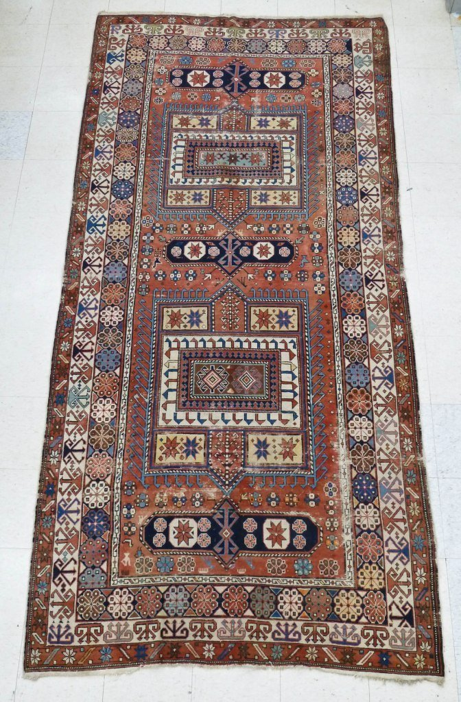 18: Antique Shirvan Caucasian Oriental Rug 10'5''x5'1''