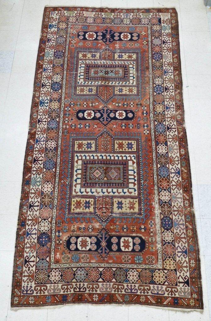 18: Antique Shirvan Caucasian Oriental Rug 10'5''x5'1''