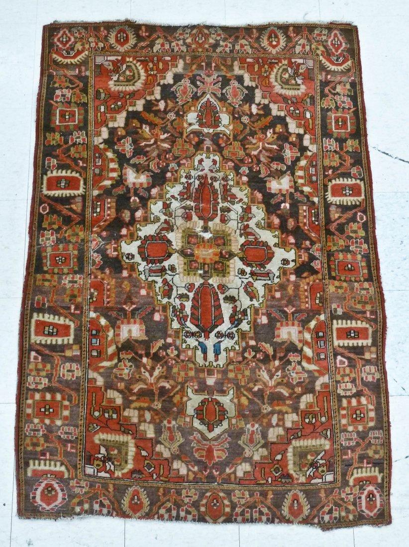 23: Antique Sarouk Feraghab Persian Oriental Rug 3'4''x