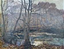 300: August Dencker (1882-1942 German) Untitled Forest