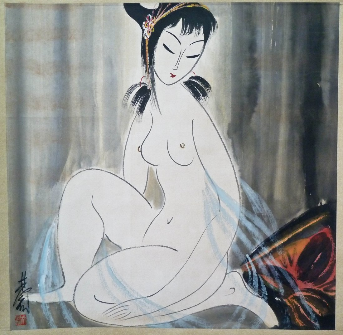 3: Lin Fengmian Attr. (1900-1991 Chinese) Female Nude
