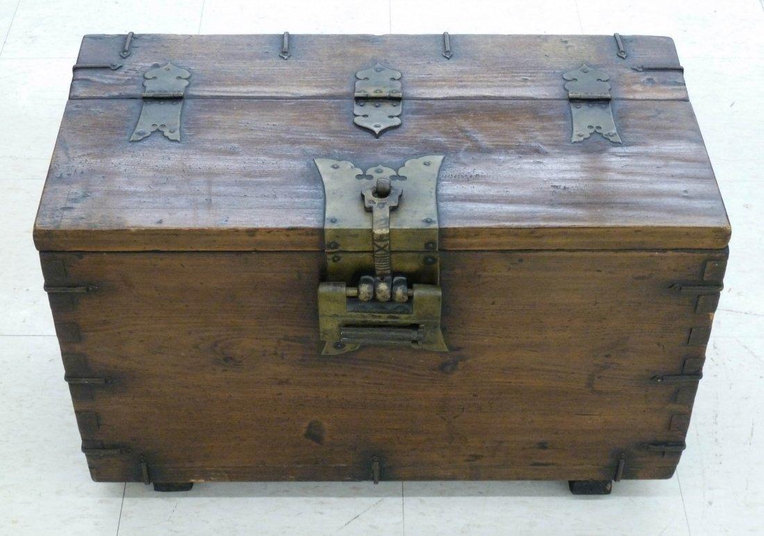 7: Korean Tansu Storage Box with Lock 15.75''x21.5''x12