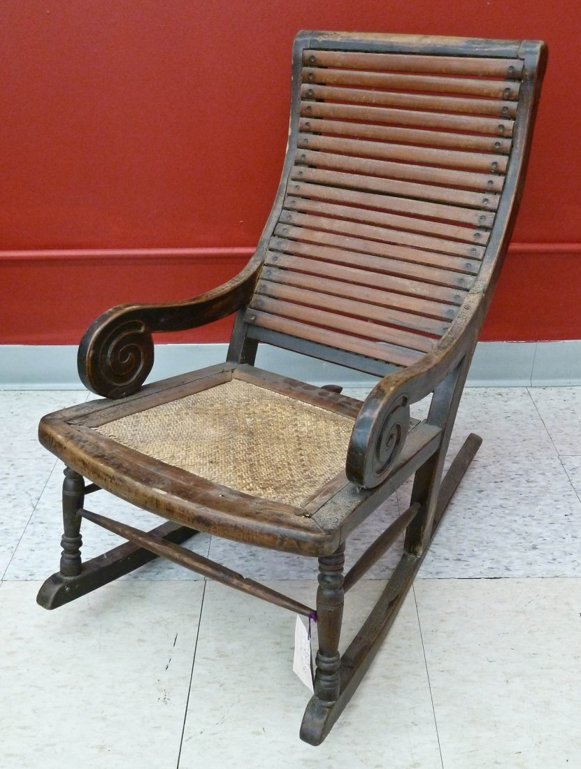 8: Antique Chinese Child's Rocking Chair 27''x15.5''. 1