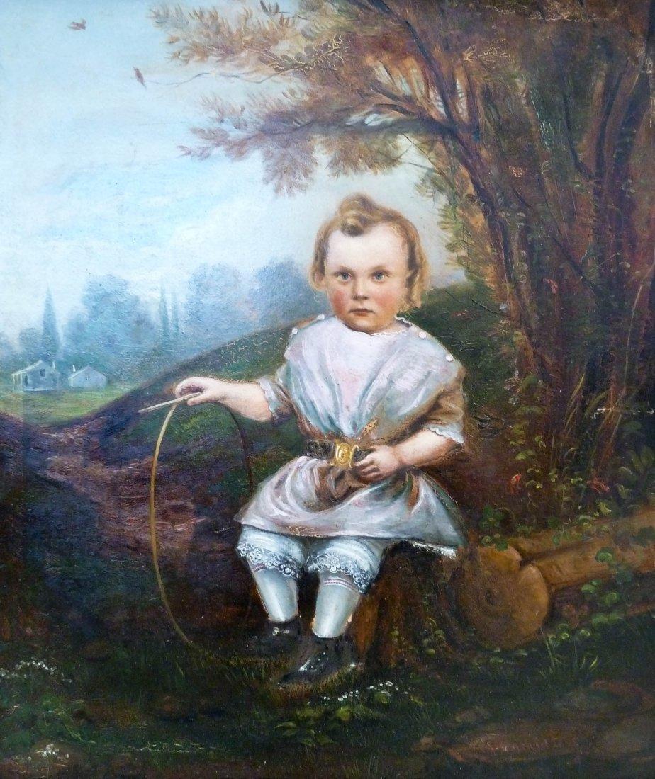 19: John Tensfeld (b.1832 CA/NY) Untitled Child in Land
