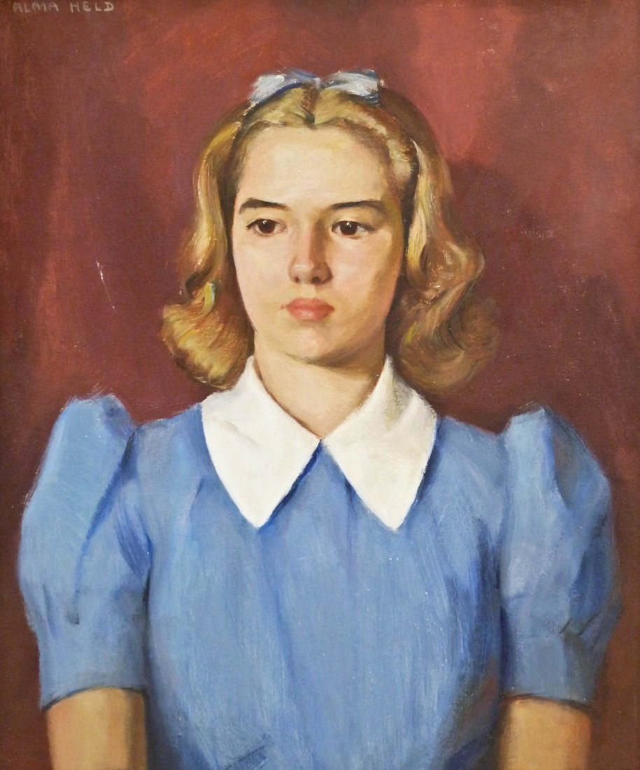 22: Alma Held (1898-1989 IA) Untitled Teenage Female Po