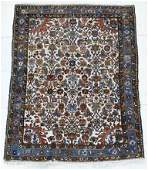154 Vintage Persian Hamedan White Ground Oriental Rug