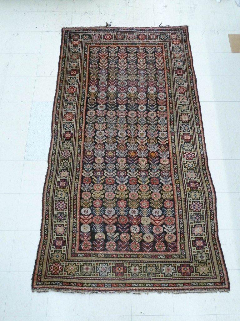 157: Antique Persian Senneh Oriental Runner Rug 4'6''x8