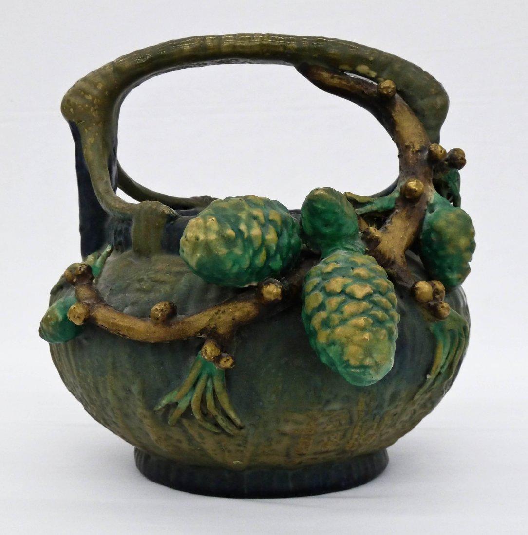 Amphora Austria Pinecone Figural Art Nouveau Pottery Ba