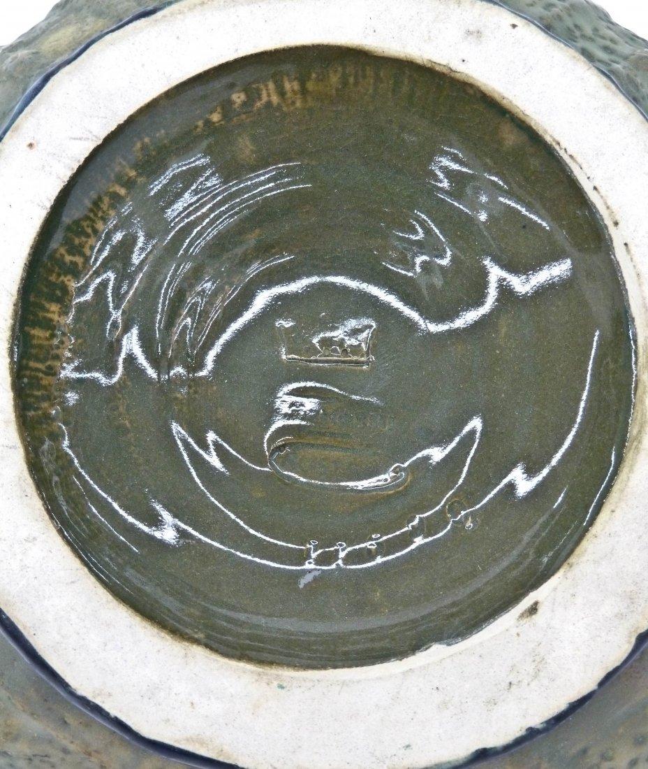 Amphora Austria Pinecone Figural Art Nouveau Pottery Ba - 3