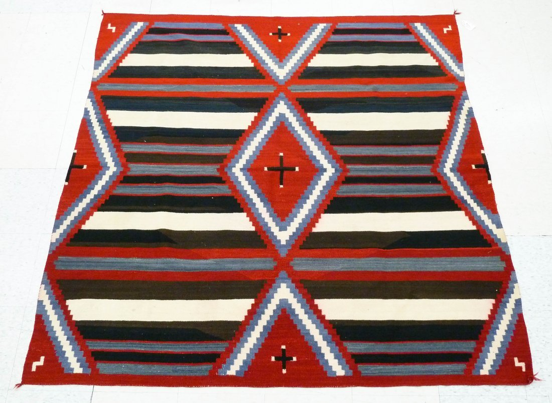 Old Navajo Third Phase Chief's Blanket 5'10''x6'. One s
