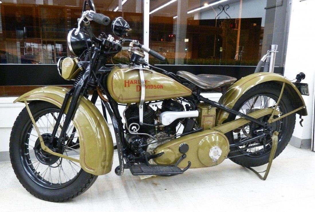 1931 Harley Davidson Green Model ''V'' Motorcycle. Full