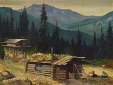 Harvey B. Goodale (1900-1980 AK) Untitled Cabin & Cache