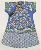 Antique Chinese Summer Dragon Robe 54''x40''. Qing