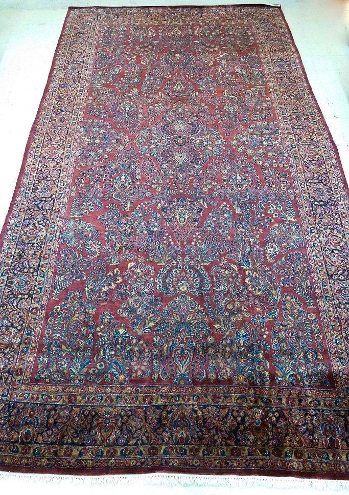 Vintage Persian Sarouk Oriental Palace Rug 10''x19''.