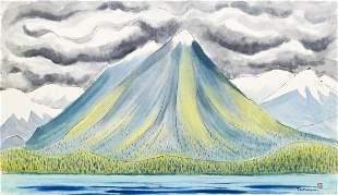 George Tsutakawa (1910-1997 Washington) ''Lake Lanazai,